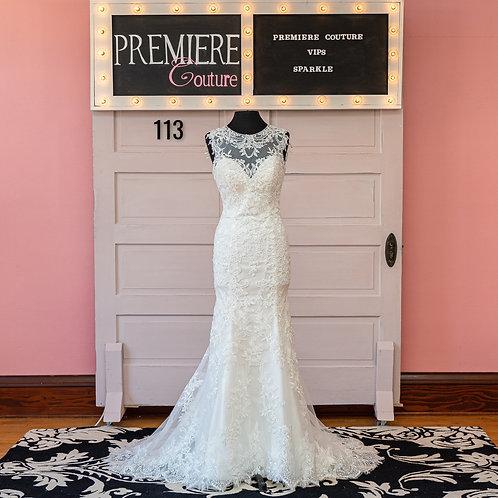 Dress 113:  Exquisite Lace Column Wedding Dress