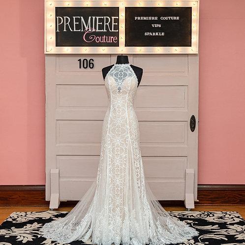 Dress 106: Boho Chic Halter Wedding Dress, F135 by Wilderly Bride