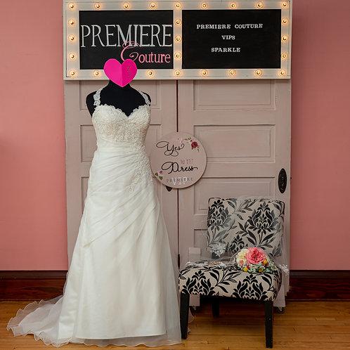Dress 3: Organza Side Wrap Wedding Dress
