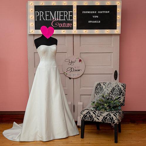 Dress 5: Strapless A-line Satin Wedding Dress