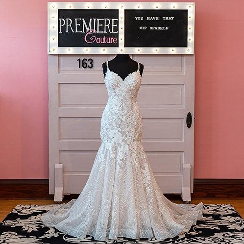Dress 163:   Beaded Lace Mermaid Wedding Dress Allure 9613