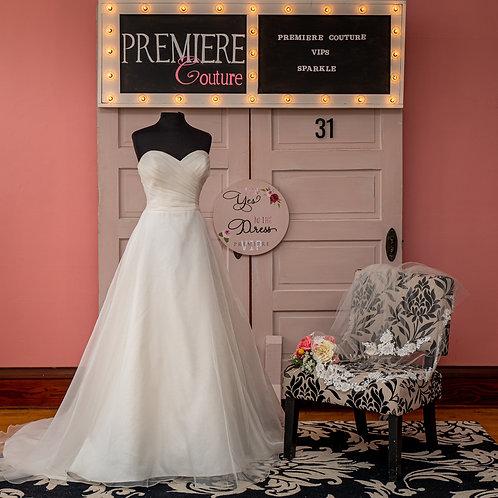 Dress 31:  Strapless Organza A-line Wedding Dress