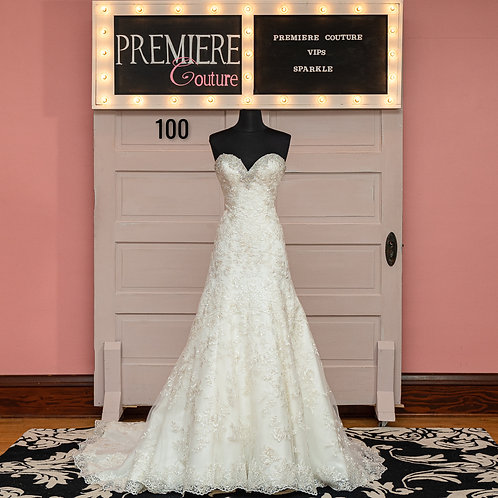 Dress 100: Beaded Strapless Wedding Dress, Allure Bridals 2850