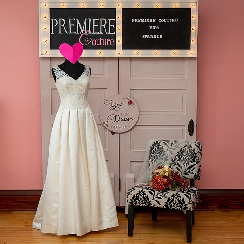 Dress 2: Floor Length Lace and Satin Bridal Gown