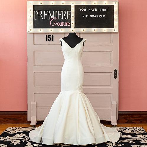 Dress 151:   Off The Shoulder Satin Wedding Dress
