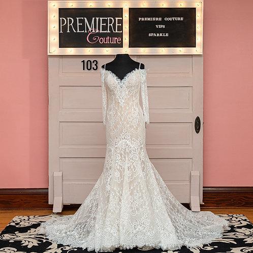 Dress 103: Long Sleeve Lace Wedding Dress, Allure Bridals 9551