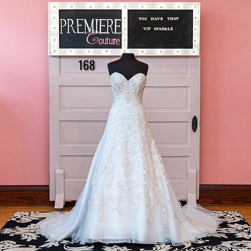 Dress 168: Strapless A-line Lace Wedding Dress Allure 9420