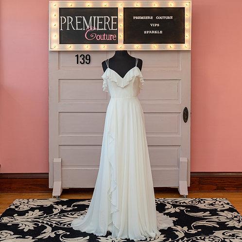 Dress 139:   Chiffon Spaghetti Strap Wedding Dress