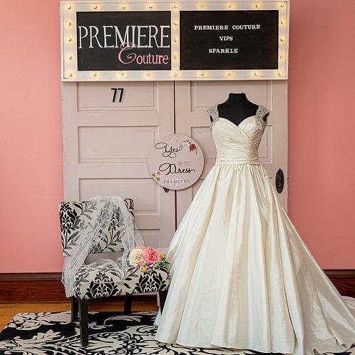 Dress 77: Sleeveless Taffeta Ball Gown from Allure Bridals