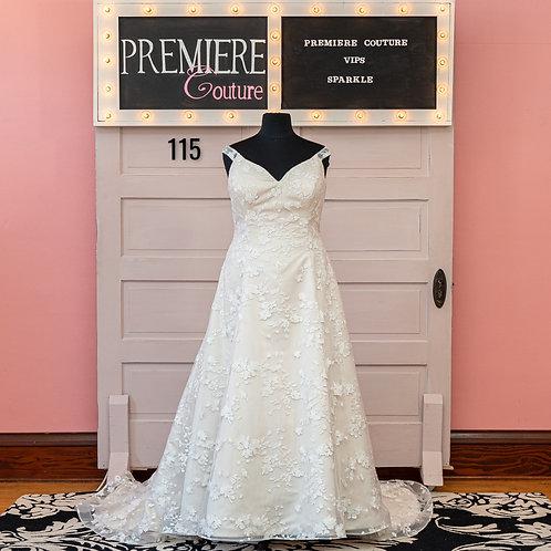 Dress 115:  Plus Size Off the Shoulder Lace Gown