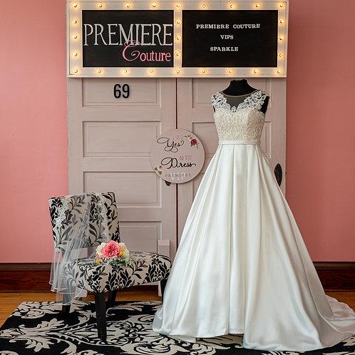 Dress 69: Mikado and Lace Wedding Dress