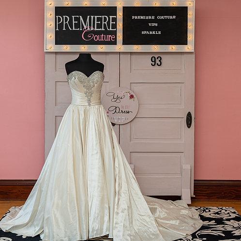 Dress 93:  Strapless Taffeta Ball Gown