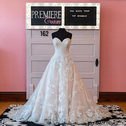Dress 162:  Strapless Tulle and Lace Ball Gown Wedding Dress Allure 9353