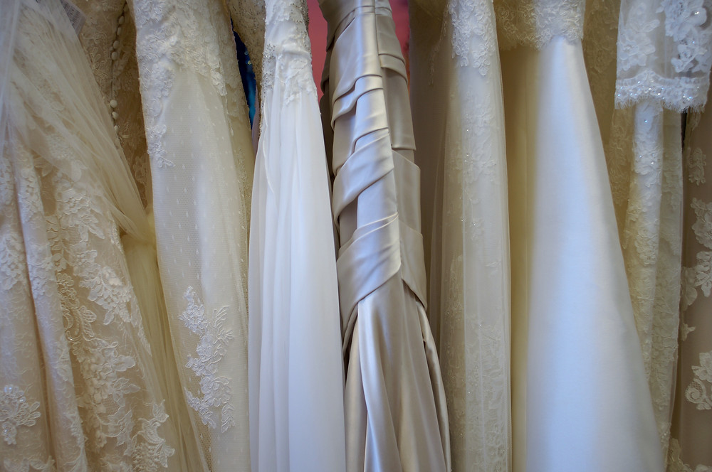 Beautiful sample wedding dresses on sale