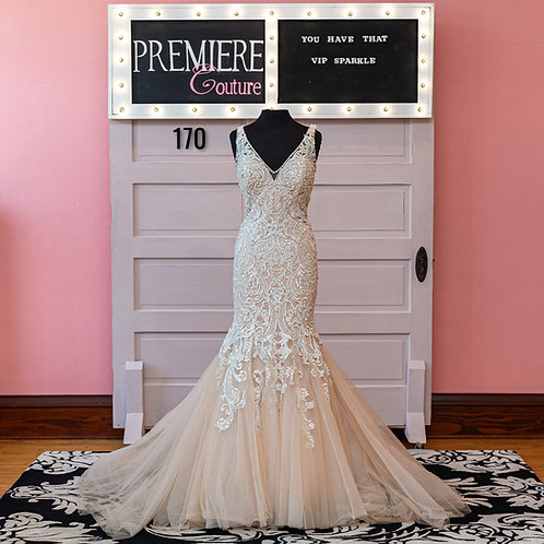 Dress 170: Mermaid Beaded Lace Wedding Dress Allure Couture C388