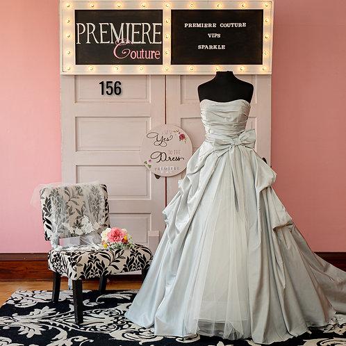 Dress 156:   Allure Bridals Style 9665 Strapless Satin Ball Gown Wedding Dress