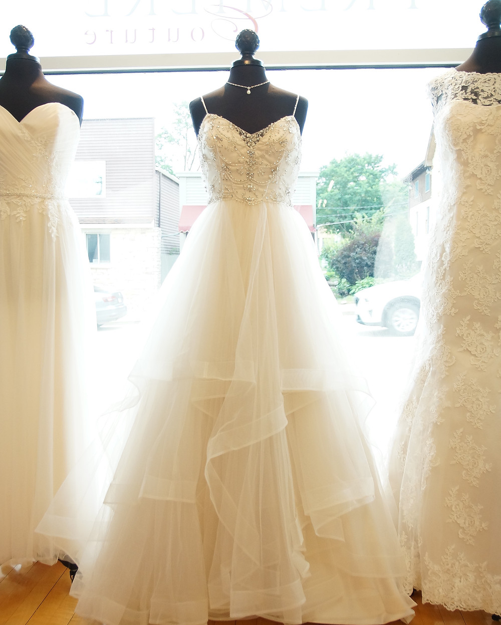 PC Squared is Premiere Couture's private collection of bridal gowns