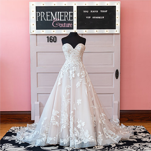 Dress 160:   Strapless Tulle and Lace Ball Gown Wedding Dress Allure 9502