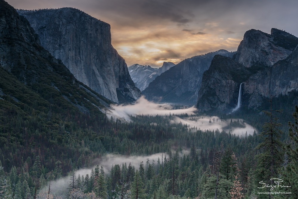 Sunrise seen from Tunnel View
