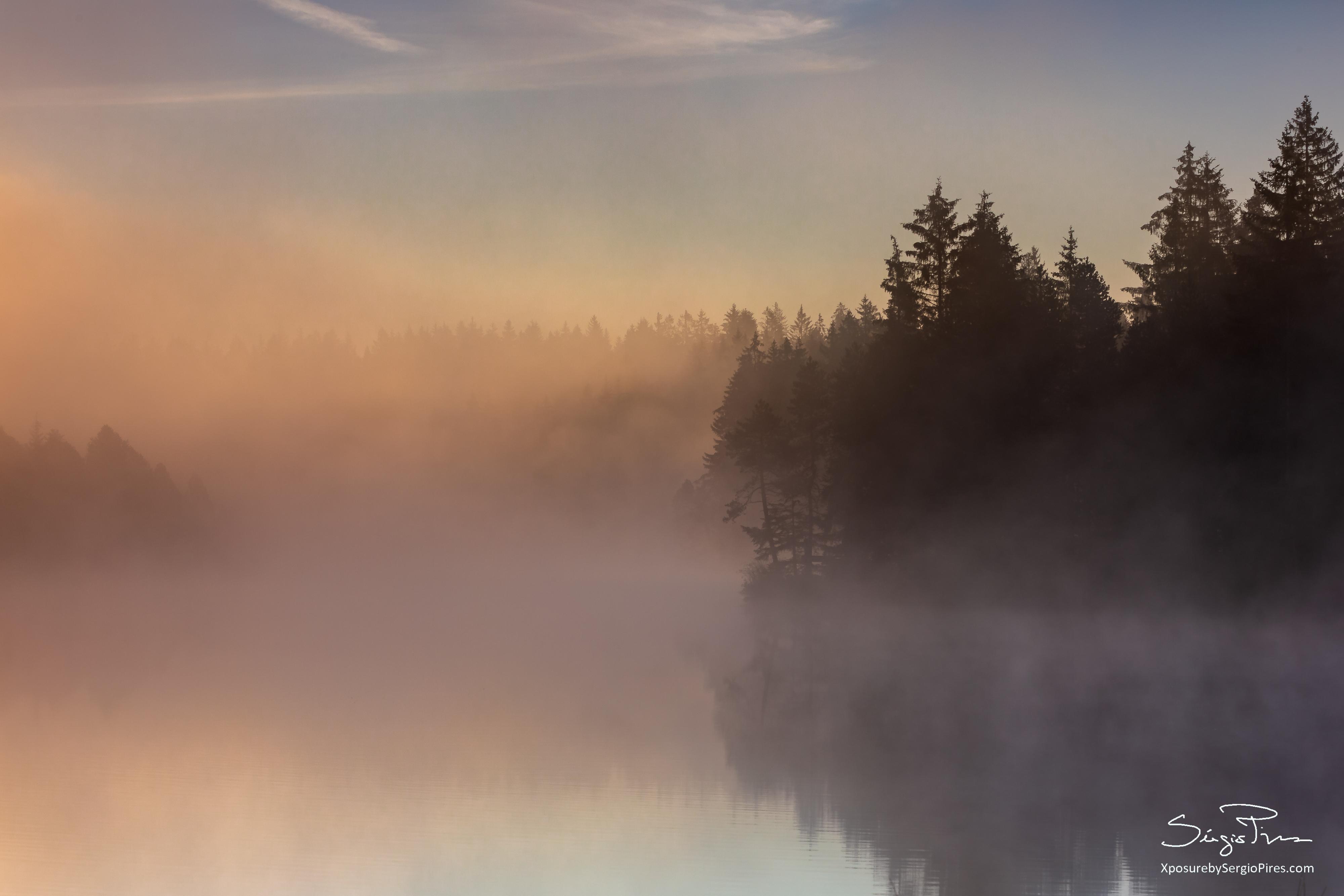 Dawn mist that the sun burns off