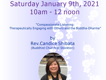 "Hoonko Seminar :""Compassionate Listening:Therapeutically Engaging with Others and the Buddha -Dharma"