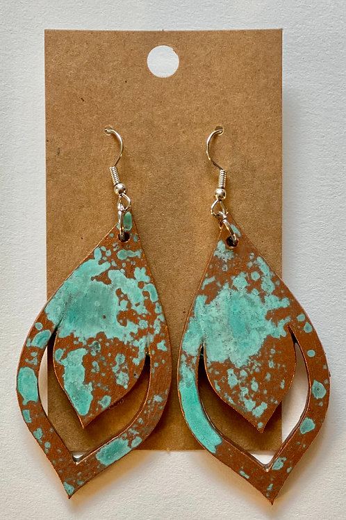 Wooden Patina Earrings