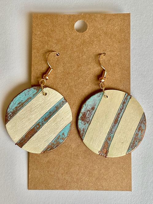 Wooden Patina Earrings
