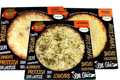 Kit com 3 Pizzas Lowcarb