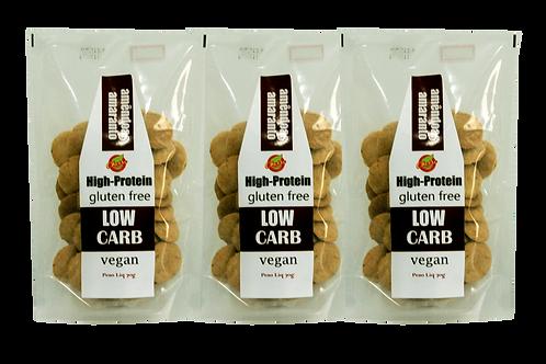 KIT - 3 Biscoitos Low Carb e Veganos