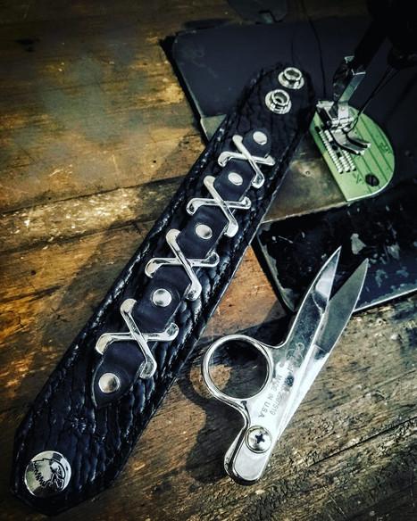 Leather bracelet for Mark Megabow