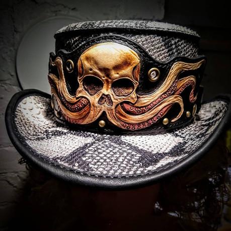 #dustynbustos #exclusiveartist #elusiveartist #leatherartist #octopushat