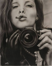 #dustynbustos #exclusiveartist #elusiveartist #leatherartist #photorealist #portraitpainting