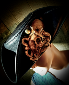 #dustynbustos #exclusiveartist #elusiveartist #leatherartist #piratehat