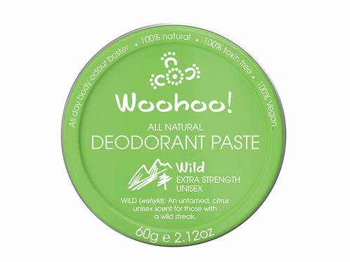 WOOHOO DEODORANT PASTE WILD (EXTRA STRENGTH) 60g