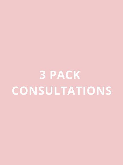3 PACK CONSULTATIONS