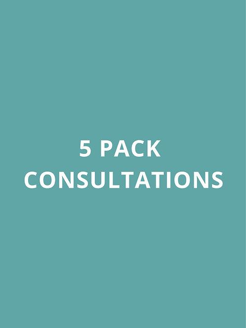 5 PACK CONSULTATIONS