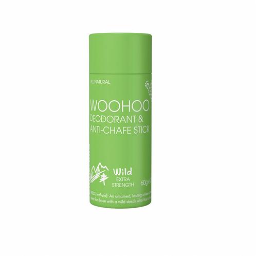 WOOHOO DEODORANT & ANTI-CHAFE STICK WILD (ULTRA STRENGTH) 60g