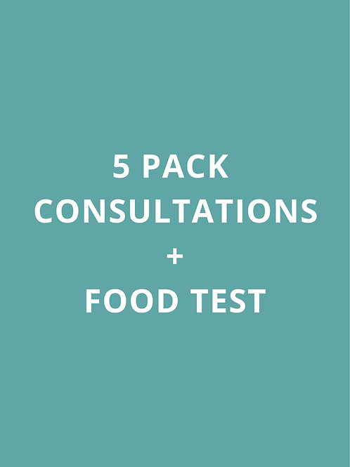 5 PACK CONSULTATIONS + FOOD TEST
