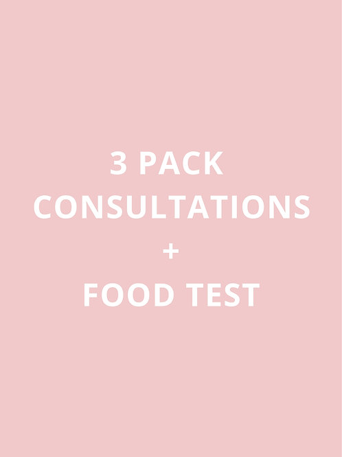 3 PACK CONSULTATIONS + FOOD TEST