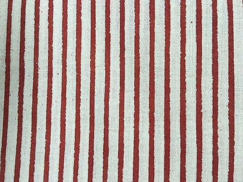 409fq natural dyed - simple red stripe