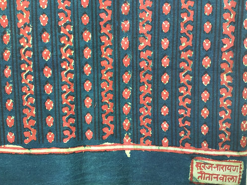 503 traditional natural dye block printed - rikha