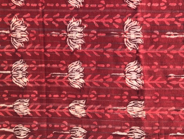 Natural dyed block printed pure cotton