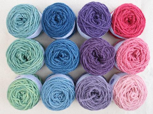 Complete blanket 35 balls of Lleyn Mini Wool pots