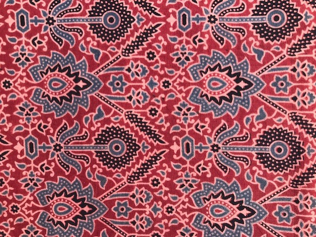 Ajrakh block printed cloth