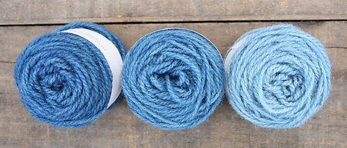 Indigo - pack of 8 Lleyni Mini Wool Pots