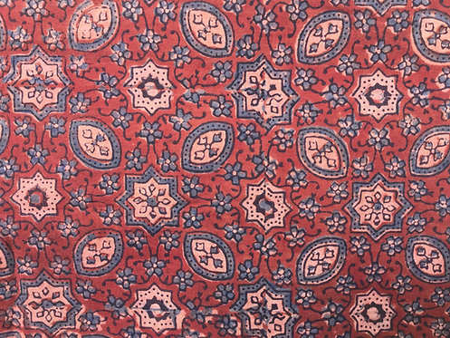 506 Ajrakh traditional block printed - Baahir