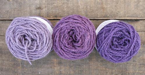 Logwood - pack of 8 Lleyni Mini Wool Pots