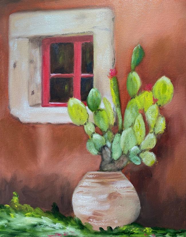 Cacti Against an Adobe