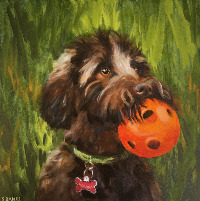 Hershey with Her Ball