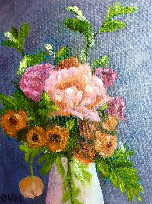 Peonies & Ranunculus in a Vase